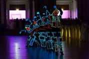114. Zuckerbäckerball - Hofburg - Do 15.01.2015 - Eröffnung, Leuchtfiguren, Tanzformation74
