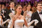 114. Zuckerbäckerball - Hofburg - Do 15.01.2015 - Balleröffnung, Debüdanten, Einzug, tanzen, Tanzpaare86