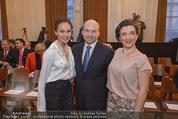 Opernball Pressekonferenz - Staatsoper - Di 20.01.2015 - Dominique MEYER, Olga BEZSMERTNA, Aida GARIFULLINA22
