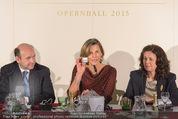 Opernball Pressekonferenz - Staatsoper - Di 20.01.2015 - Dominique MEYER, Desiree TREICHL-ST�RGKH, Eva DINTSIS62