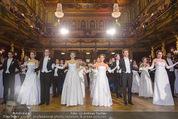 Philharmonikerball - Musikverein - Do 22.01.2015 - Baller�ffnung, Deb�danten, Tanzpaare, tanzen, Formation108
