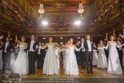 Philharmonikerball - Musikverein - Do 22.01.2015 - Baller�ffnung, Deb�danten, Tanzpaare, tanzen, Formation109