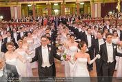 Philharmonikerball - Musikverein - Do 22.01.2015 - Baller�ffnung, Deb�danten, Tanzpaare, tanzen, Formation130