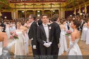 Philharmonikerball - Musikverein - Do 22.01.2015 - Baller�ffnung, Deb�danten, Tanzpaare, tanzen, Formation135