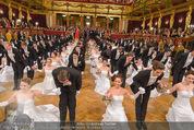 Philharmonikerball - Musikverein - Do 22.01.2015 - Baller�ffnung, Deb�danten, Tanzpaare, tanzen, Formation140