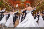 Philharmonikerball - Musikverein - Do 22.01.2015 - Baller�ffnung, Deb�danten, Tanzpaare, tanzen, Formation144