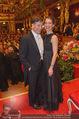 Philharmonikerball - Musikverein - Do 22.01.2015 - Tobias MORETTI mit Ehefrau Julia165
