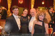 Philharmonikerball - Musikverein - Do 22.01.2015 - Tobias MORETTI mit Ehefrau Julia, Sandra PIRES, Wolfgang BANKL167