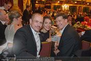 Philharmonikerball - Musikverein - Do 22.01.2015 - Gery KESZLER, Tobias MORETTI mit Ehefrau Julia200