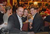 Philharmonikerball - Musikverein - Do 22.01.2015 - Gery KESZLER, Tobias MORETTI mit Ehefrau Julia201