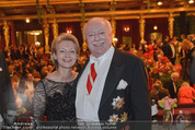 Philharmonikerball - Musikverein - Do 22.01.2015 - Michael H�UPL mit Ehefrau Barbara (H�RNLEIN)210
