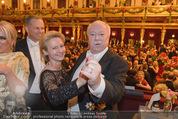 Philharmonikerball - Musikverein - Do 22.01.2015 - Michael H�UPL mit Ehefrau Barbara (H�RNLEIN)212