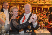 Philharmonikerball - Musikverein - Do 22.01.2015 - Michael H�UPL mit Ehefrau Barbara (H�RNLEIN)213
