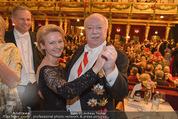 Philharmonikerball - Musikverein - Do 22.01.2015 - Michael H�UPL mit Ehefrau Barbara (H�RNLEIN)214