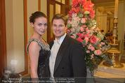 Philharmonikerball - Musikverein - Do 22.01.2015 - Gregor HATALA mit Freundin29