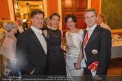 Philharmonikerball - Musikverein - Do 22.01.2015 - Tobias und Julia MORETTI, Josef OSTERMAYER mit Ehefrau Manuela43
