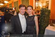 Philharmonikerball - Musikverein - Do 22.01.2015 - Tobias MORETTI mit Ehefrau Julia45