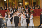 Philharmonikerball - Musikverein - Do 22.01.2015 - Baller�ffnung, Deb�danten, Tanzpaare, tanzen, Formation89
