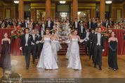 Philharmonikerball - Musikverein - Do 22.01.2015 - Baller�ffnung, Deb�danten, Tanzpaare, tanzen, Formation95