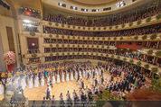 Opernball 2015 - Das Fest - Wiener Staatsoper - Do 12.02.2015 - Baller�ffnung, Deb�danten Einzug, �bersichtsfoto, Logen2