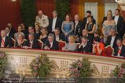 Opernball 2015 - Das Fest - Wiener Staatsoper - Do 12.02.2015 - Ehrenloge, Kaiserloge, Bundespr�sident Heinz FISCHER, Regierung21
