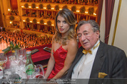 Opernball 2015 - Das Fest - Wiener Staatsoper - Do 12.02.2015 - Elisabetta CANALIS, Richard LUGNER (Logenfoto)66