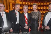 Opernball 2015 - Das Fest - Wiener Staatsoper - Do 12.02.2015 - Heinz FISCHER, Andreas und Desiree TREICH-ST�RGKH89