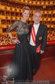 Opernball 2015 - Das Fest - Wiener Staatsoper - Do 12.02.2015 - Heinz FISCHER, Desiree TREICH-ST�RGKH tanzen in Loge92
