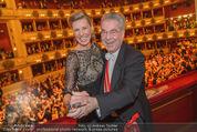 Opernball 2015 - Das Fest - Wiener Staatsoper - Do 12.02.2015 - Heinz FISCHER, Desiree TREICH-ST�RGKH tanzen in Loge99