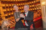 Opernball 2015 - Das Fest - Wiener Staatsoper - Do 12.02.2015 - Heinz FISCHER, Desiree TREICH-ST�RGKH tanzen in Loge101