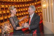 Opernball 2015 - Das Fest - Wiener Staatsoper - Do 12.02.2015 - Heinz FISCHER, Desiree TREICH-ST�RGKH tanzen in Loge102