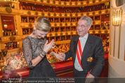 Opernball 2015 - Das Fest - Wiener Staatsoper - Do 12.02.2015 - Heinz FISCHER, Desiree TREICH-ST�RGKH tanzen in Loge103