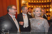 Opernball 2015 - Das Fest - Wiener Staatsoper - Do 12.02.2015 - Karlheinz KOPF, Andreas TREICHL, Doris BURES104