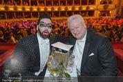 Opernball 2015 - Das Fest - Wiener Staatsoper - Do 12.02.2015 - Harald GL��CKLER mit Ehemann Dieter SCHROTH119