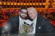 Opernball 2015 - Das Fest - Wiener Staatsoper - Do 12.02.2015 - Harald GL��CKLER mit Ehemann Dieter SCHROTH120