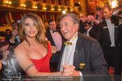 Opernball 2015 - Das Fest - Wiener Staatsoper - Do 12.02.2015 - Richard LUGNER tanzt mit Elisabetta CANALIS (tanzen, Tanzfl�che123