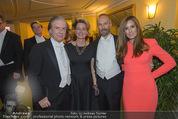 Opernball 2015 - Das Fest - Wiener Staatsoper - Do 12.02.2015 - Friedrich STICKLER mit Ehefrau Berit, Erwin WURM, Elise MOUGIN152