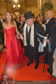 Opernball 2015 - Feststiege - Wiener Staatsoper - Do 12.02.2015 - Richard LUGNER, Elisabetta CANALIS116