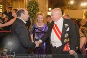 Opernball 2015 - Feststiege - Wiener Staatsoper - Do 12.02.2015 - Michael H�UPL mit Ehefrau Barbara, Dominique MEYER121