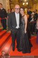 Opernball 2015 - Feststiege - Wiener Staatsoper - Do 12.02.2015 - DJ �TZI Gerry FRIEDLE mit Ehefrau Sonja126