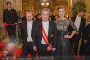Opernball 2015 - Feststiege - Wiener Staatsoper - Do 12.02.2015 - Dominique MEYER, Heinz FISCHER, Desiree TREICHL-ST�RGKH135