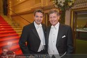 Opernball 2015 - Feststiege - Wiener Staatsoper - Do 12.02.2015 - Christoph WAGNER-TRENKWITZ, Kari HOHENLOHE18
