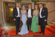 Opernball 2015 - Feststiege - Wiener Staatsoper - Do 12.02.2015 - WAGNER-TRENKWITZ, HOHENLOHE, M WEICHSELBRAUN, A HAIDER, B RETT22
