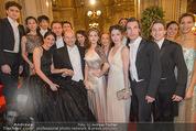 Opernball 2015 - Feststiege - Wiener Staatsoper - Do 12.02.2015 - Dominique MEYER mit Staatsopernball, Ensemble28