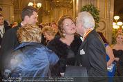 Opernball 2015 - Feststiege - Wiener Staatsoper - Do 12.02.2015 - Harald und Daniel SERAFIN, Dagmar SCHELLENBERGER60
