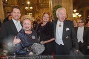 Opernball 2015 - Feststiege - Wiener Staatsoper - Do 12.02.2015 - Familie Harald, Daniel und Ingeborg Mausi SERAFIN62
