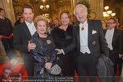 Opernball 2015 - Feststiege - Wiener Staatsoper - Do 12.02.2015 - Familie Harald, Daniel und Ingeborg Mausi SERAFIN63