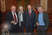 Europa in Wien - Belvedere - Do 19.02.2015 - Herbert LACKNER, Andreas KOHL mit Ehefrau, Oscar BRONNER175