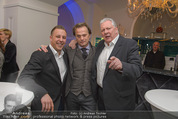 Filmball Cocktail - Kempinski Vienna - Do 12.03.2015 - Manfred SCH�DSACK, Edi FINGER, Daniel QUINN2