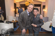 Filmball Cocktail - Kempinski Vienna - Do 12.03.2015 - Nhut LA HONG, Daniel QUINN54